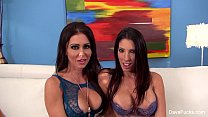 Dava Foxx and her friend share a cock