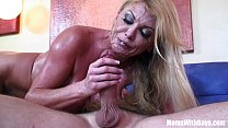 Blonde housewife Taylor Wane with gigantic boobs in sexy lingerie seduces the st Thumbnail