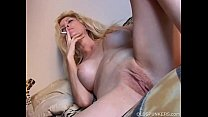 Beautiful blonde MILF enjoys a smoke break Thumbnail