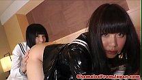 Asian trans schoolgirls enjoy a twosome