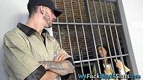 Ebony prisoner spitroast