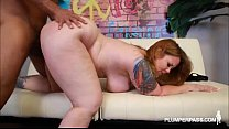 Redhead Tattooed MILF Vanya Vixen Swallows Huge...