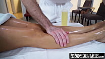 Luscious booty MILF Jazmyn slammed after sensual massage