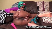 Msnovember HD My Asshole Feels Horny And I Have To Push A Butt Plug Deep Into My Black Ass To Feel Better After Pulling These Panties Down In Cosplay Sheisnovember