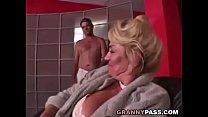 Busty Grandma is getting her pussy stuffed
