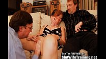 Cuckold Hubby Slurps Out Wife Creampie