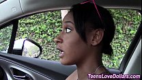 Black teen gets pov cum