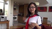 18 yo Japanese schoolgirl touching herself