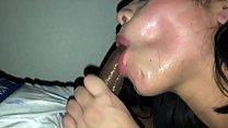 Nasty cum slut rims asshole and swallows bbc