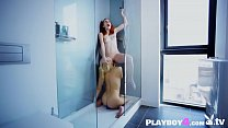 Hot redhead MILF fingering by a blonde lesbian friend
