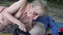 extreme horny 86 years old granny rough outdoor...