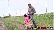 Amateur couple outdoor sex