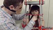 Foxy chick is taken in butt hole nuthouse for h...