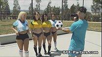 Soccer chicks fucking lucky coach