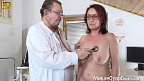 Nice wet mature pussy examined by freaky doctor