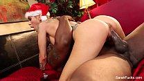 Sarah Jessie Christmas Interracial Fuck