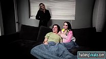 Ashly and Karma fucking one huge dick