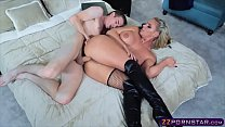 Busty anal queen in slutty outfit gets rough an...