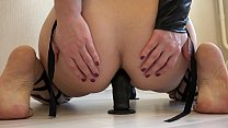 Cute brunette with a juicy ass and with sexy le... Thumbnail