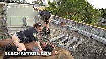 BLACK PATROL - Black Thug Burglar Fucks MILF Po... Thumbnail