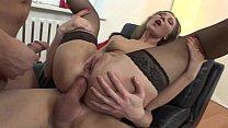 Pretty slut in black stockings anal banged Thumbnail