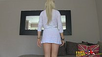 FakeAgentUK Hot blonde young amateur tricked in...