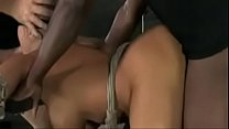 Asian bimbo slut creampied during bondage spitr...