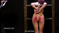 Thin redhead bound with tight ropes