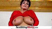 Big natural boobs cougar Greta receives pussy e... Thumbnail