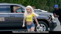 TLBC - Teen Sucks BBC in Backseat of Car