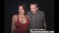 MILF Makes Every Man in Porn Theater Cum