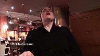 Upskirts masturbation in public restaurant of c...