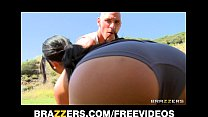 Natural Asian babe Jayden Lee rides her man's b...
