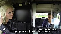 Euro female fake taxi driver bangs big dick