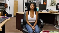 Big tits ebony babe Brittney White sells her pu...