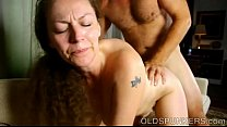 Busty mature broad enjoys a hot fuck and a sticky facial cumshot Thumbnail