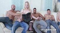 5on1 for the Big Butt PAWG Adry Berty with Double Anal & 5 swallows - download porn videos