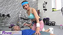 Fitness Rooms Petite sporty British Afghan gets... Thumbnail