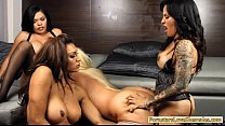 Huge boobs blonde whore Alura enjoyed by three ... Thumbnail