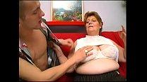 Senior citizen grandma enjoys cock like in the good old days
