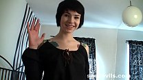 Skinny goth queen Ebba aka Amy Frost from She D...
