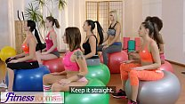 Fitness Rooms Gym milf and students have wet le...