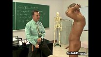 Naughty gay suck teachers big phallus in classroom Thumbnail