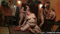 Fat girl gets screwed in various positions