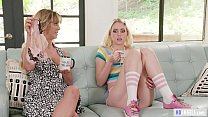 My Mom's older friend lick my pussy! - Cherie D...
