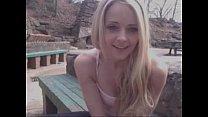 Hot Blond Teen Fucks Herself At Public Monument...