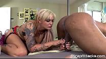 Tattooed femdom enjoys pegging scene