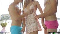 LustHD Horny teen dreams of having threesome sex