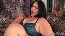 Beautiful BBW Becky Butterfly loves riding fat dicks. Thumbnail