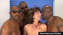 Busty Mature Cougar Deauxma Fucked In Ass By 3 Black Cocks!